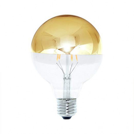 Globe Led filament dimmable 125 à coupole dorée 8w 400lm