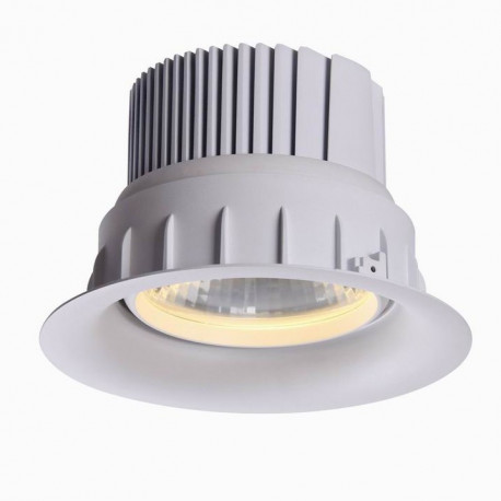 Downlight blanc  Meat orientable 42W Rouge Rose ø195 mm / enc 180mm
