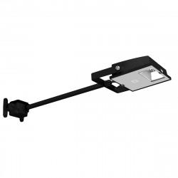 Appareil noir LED 15W sur tige 40cm pour éclairage d'enseigne