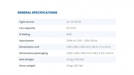 RODA V2  UVC - Unité de désinfection indirecte 24h/24