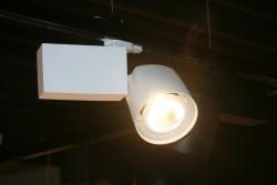 Projecteur LECPS haut de gamme ultra performant 40W gris s/rail universel spécial boucherie