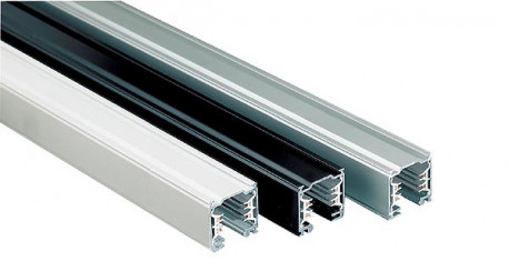 Rail universel triphasé gris alu 1M