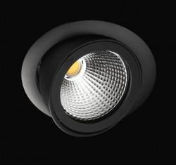 Projecteur LPSO haut de gamme ultra performant 40W noir encastrable orientable spécial boucherie