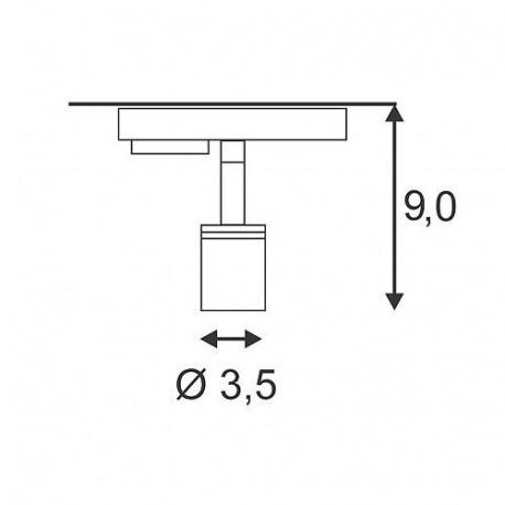 Minispot GU10 gris argent pour Led 230V