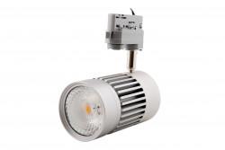 LED tracklight réglable 26W 36d 4000K IP20 gris argent